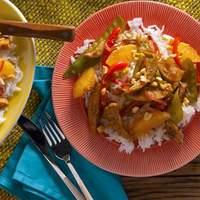 5-Spice Pork Stir Fry with Mandarin Oranges Recipe