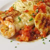 Alaskan Cod and Shrimp with Fresh Tomato Recipe
