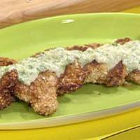 Almond Crusted Chicken Cutlets with Scallion Beurre Blanc Recipe