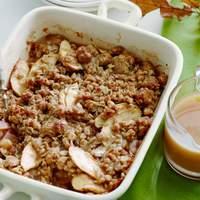 Apple Crumble with Cardamom-Vanilla Caramel Sauce Recipe