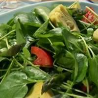 Artichokes, Asparagus, and Watercress Salad with Cumin Vinaigrette Recipe