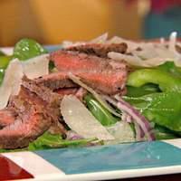 Arugula Salad with Steak, Shaved Parmesan and Lemon Vinaigrette Recipe