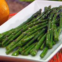 Asparagus with Sesame Citrus Sauce Recipe