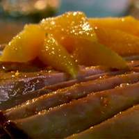 Aunt Peggy's Orange Glazed Ham Steak Recipe