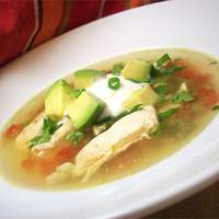 Avocado Soup with Chicken and Lime Recipe