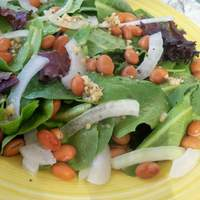Baby Greens and Garlicky White Bean Salad Recipe