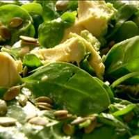 Baby Spinach, Avocado, and Pumpkin Seed Salad Recipe
