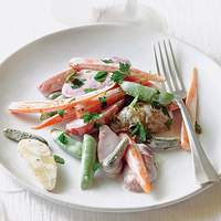 Baby Vegetable Salad with Cornichons Recipe