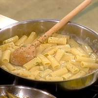 Bacon and Egg Coal Miner's Pasta: Rigatoni alla Carbonara Recipe