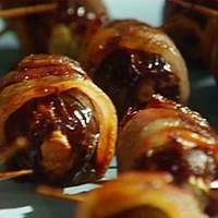 Bacon-Wrapped Dates Stuffed with Cream Cheese and Almonds Recipe