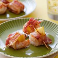 Bacon Wrapped Pineapple Shrimp Recipe