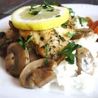 Baked Lemon Chicken with Mushroom Sauce Recipe