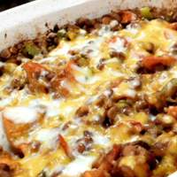 Baked Lentils with Cheese Recipe