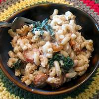 Baked Macaroni and Cheese With Kale and Great Northern Beans Recipe