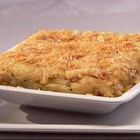 Baked Mashed Potatoes, with Pancetta, Parmesan Cheese, and Breadcrumbs Recipe