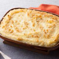 Baked Mashed Potatoes with Parmesan Cheese and Bread Crumbs Recipe