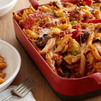 Baked Penne with Roasted Vegetables Recipe