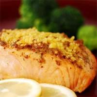 Baked Salmon Fillets Dijon Recipe