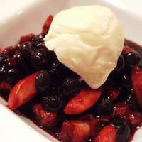 Balsamic Blueberries and Peaches Recipe