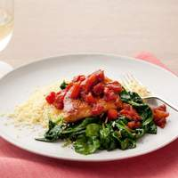 Balsamic Chicken with Baby Spinach Recipe