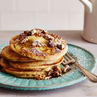 Banana and Pecan Pancakes with Maple Butter Recipe