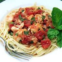 Basil Chicken over Angel Hair Recipe