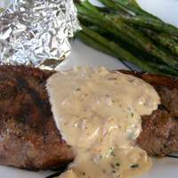 Beef Fillet Steaks With Pepper Thyme Sauce Recipe