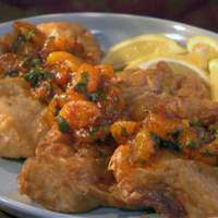 Beer Battered Tilapia with Red Chile Mandarin Orange Sauce Recipe