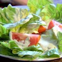 Bibb Salad with Basil Green Goddess Dressing Recipe