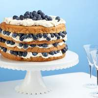 Billie's Italian Cream Cake with Blueberries Recipe
