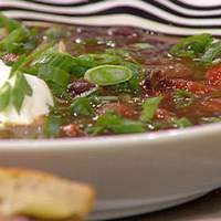 Black Bean Stoup and Southwestern Monte Cristo Sandwiches Recipe