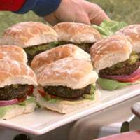 Black Pepper-Crusted Burgers with Mustard Sauce Recipe