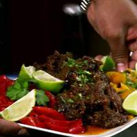 Blazin' Short Rib Tacos with Roasted Peppers Recipe