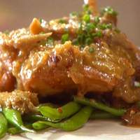 Braised Chicken with Mushrooms and Almonds Recipe