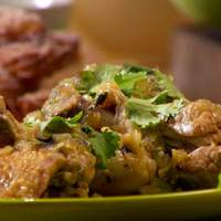 Braised Chicken with Tomatillos and Jalapenos Recipe