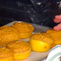 Brandy and Orange-Mashed Sweet Potatoes in Orange Cups Recipe