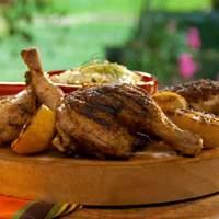 Brined Butterflied Chicken Alla Diavola with Lemony Fennel Slaw Recipe