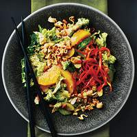 Broccoli Slaw with Oranges and Crunchy Noodles Recipe