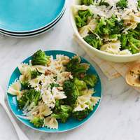 Broccoli with Bow Ties and Peas Recipe