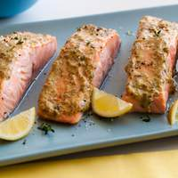 Broiled Salmon with Herb Mustard Glaze Recipe