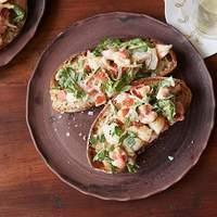 Bruschetta with Shrimp, Tarragon and Arugula Recipe