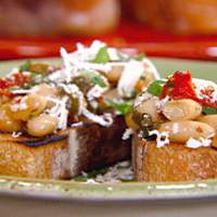 Bruschetta with White Beans, Sun-dried Tomatoes and Basil Recipe