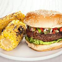 Burgers with Green Tomato Salsa Recipe