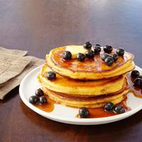 Buttermilk Pancakes With Vanilla Bean-Berry Syrup Recipe