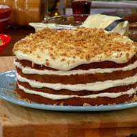 Buttermilk Spice Cake with Roasted Walnut Cream Cheese Frosting Recipe