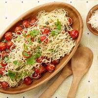Capellini with Tomatoes and Basil Recipe