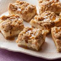 Caramel Apple Cheesecake Bars with Streusel Topping Recipe