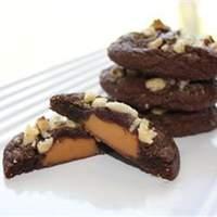 Caramel Filled Chocolate Cookies Recipe