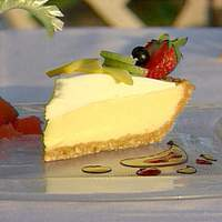 Cashew Crusted Key Lime Pie with a Whipped Cream Fruit Coulis Recipe