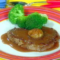 Chateaubriand for 2 in 30: Tournedos with Mushroom Caps and Red Wine Sauce and Steamed Broccoli Spears Recipe